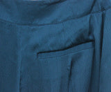 Safiyaa Teal Silk Pants 4