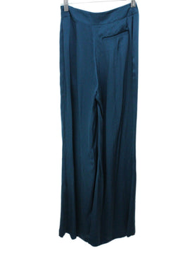 Safiyaa Teal Silk Pants 2