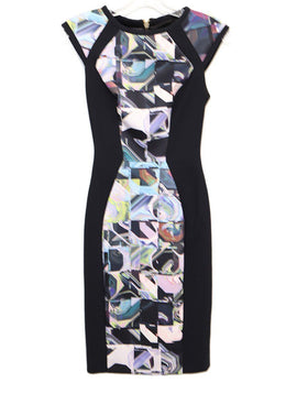 Ted Baker Black Multi Print Polyester Dress