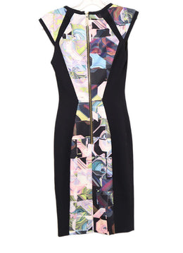 Ted Baker Black Multi Print Polyester Dress 1