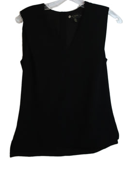 Ted Baker Black Polyester Sleeveless V-Neck Top 1