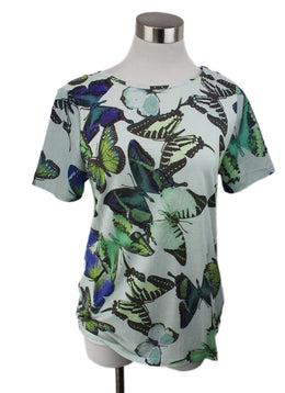 Ted Baker Green Mint Cotton Butterfly Top 1
