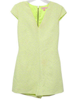 Ted Baker Yellow Neon Cotton Polyester Elastane Jumpsuit