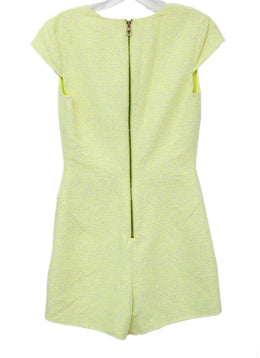 Ted Baker Yellow Neon Cotton Polyester Elastane Jumpsuit 1
