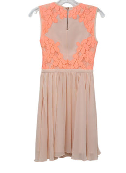 Ted Baker Pink Floral Polyester Cotton Polyamide Lace Dress 1