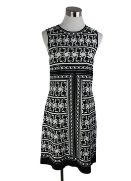 Ted Baker Black White Print Viscose Polyamide Dress 2