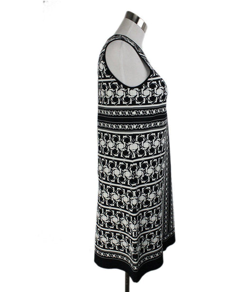 Ted Baker Black White Print Viscose Polyamide Dress 3