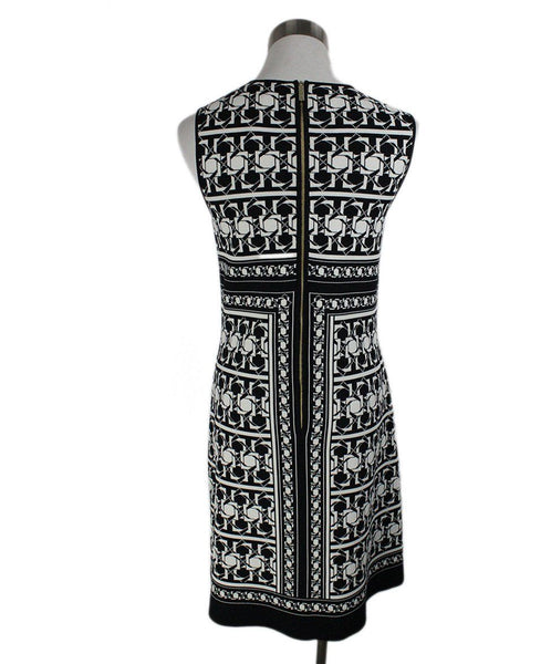 Ted Baker Black White Print Viscose Polyamide Dress 4