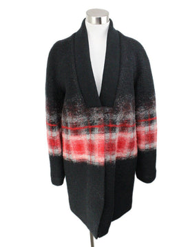 Thakoon Black Red Mohair Sweater 1