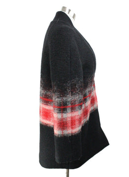 Thakoon Black Red Mohair Sweater 2