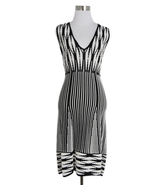 Thakoon black white stripes dress 1