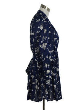 Thakoon Blue Floral Silk Long Sleeve Dress 2