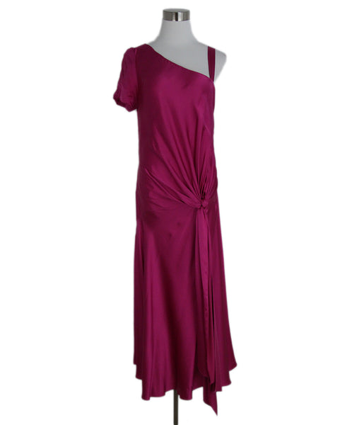 Thakoon Fuchsia Silk Long Dress 1
