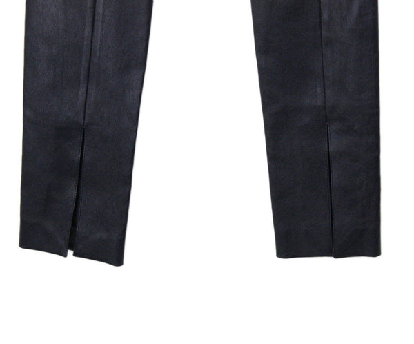 The Row Size 0 Blue Navy Leather Pants