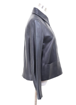 The Row Black Lambskin Jacket Sz 10