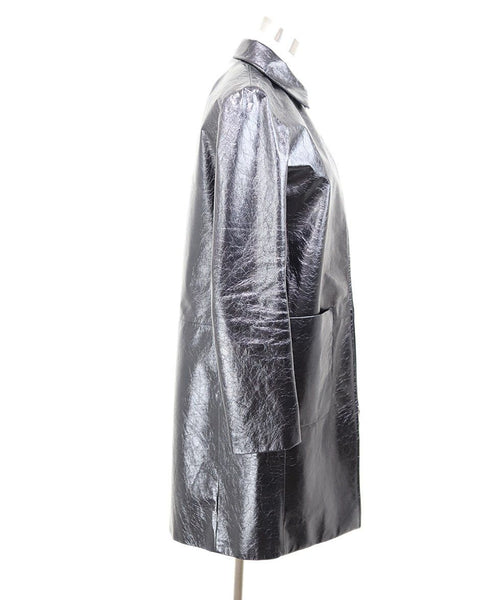 The Row Black Patent Leather Coat 1