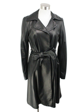 The Row Black Leather Coat 1
