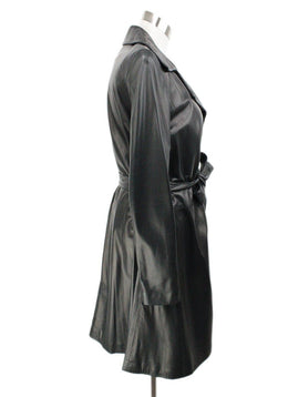 The Row Black Leather Coat 2