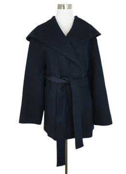 The Row Blue Navy Cotton Wool Coat Outerwear 1