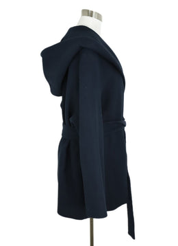 The Row Blue Navy Cotton Wool Coat Outerwear 2
