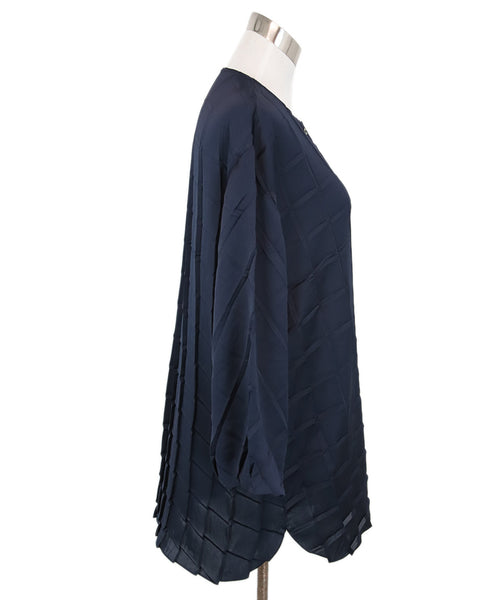 The Row Navy Silk Top 2