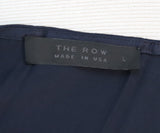 The Row Navy Silk Top 4