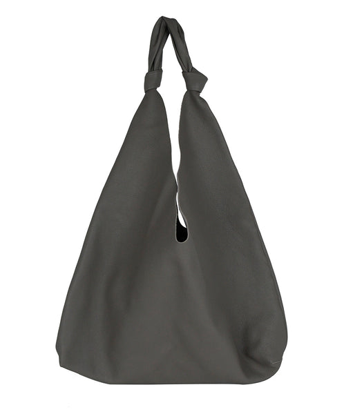 The Row Grey Leather Grey Bindle Two Tote Handbag 1
