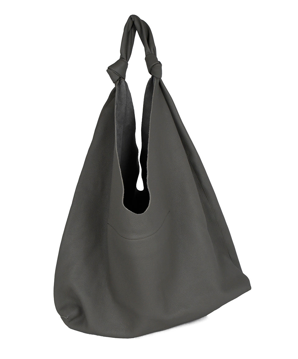 The Row Grey Leather Grey Bindle Two Tote Handbag 3