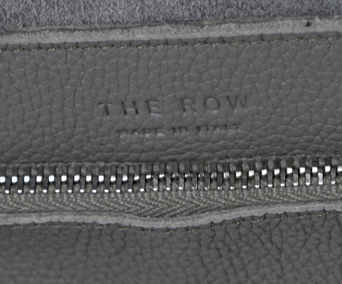 The Row Grey Leather Grey Bindle Two Tote Handbag 6