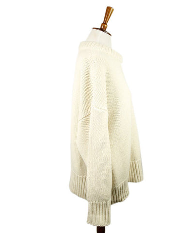 The Row Ivory Cashmere Wool Sweater 1