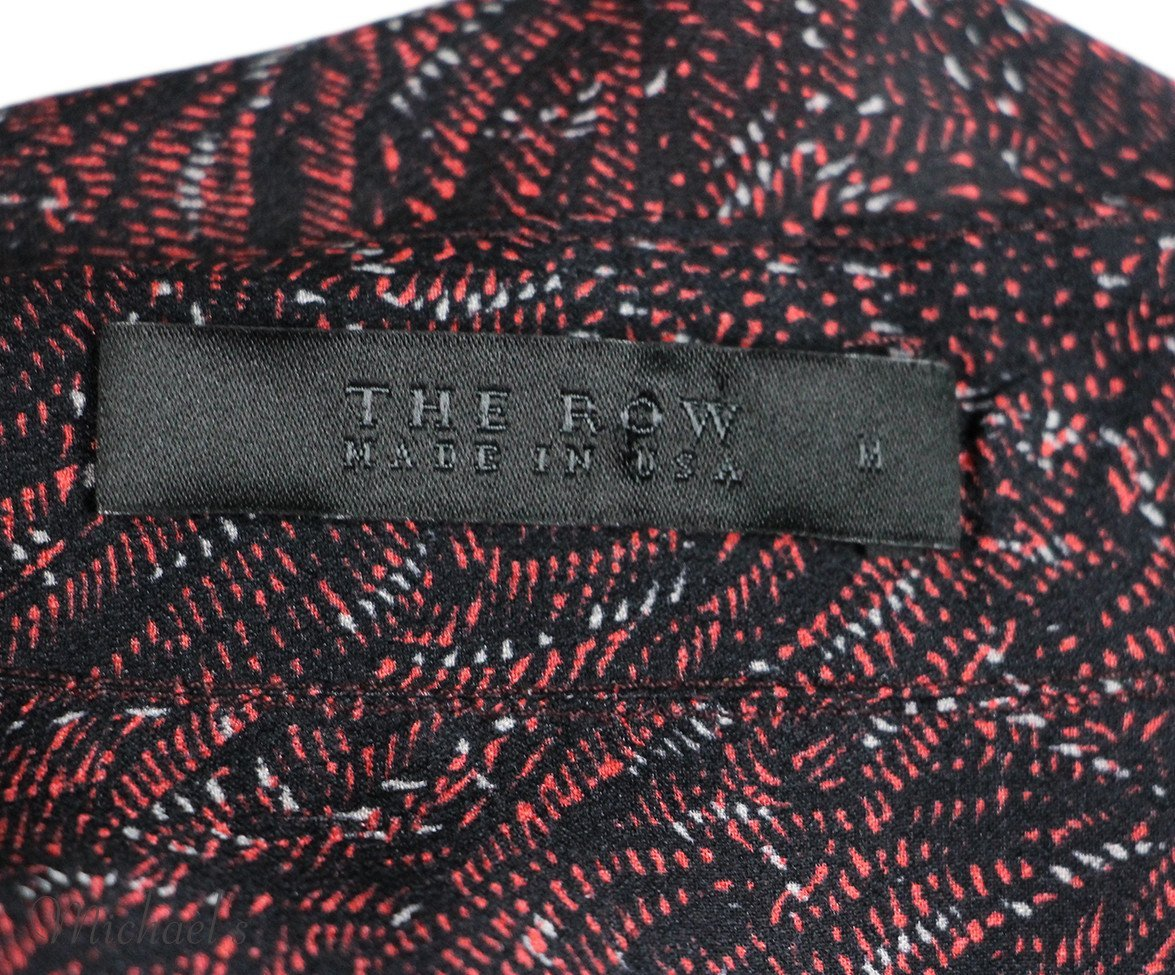 The Row  Red Black Silk Top Sz 6 - Michael's Consignment NYC  - 4