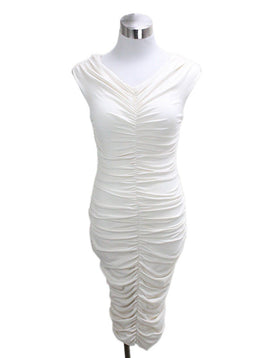 The Row Ivory Polyester Spandex Dress