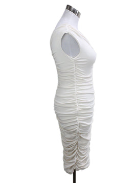 The Row Ivory Polyester Spandex Dress 1