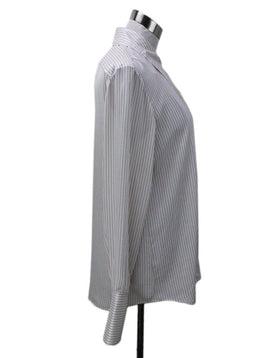 The Row White Striped Blouse 1