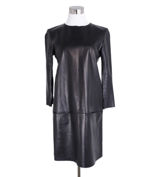 The Row Black Leather Dress 1