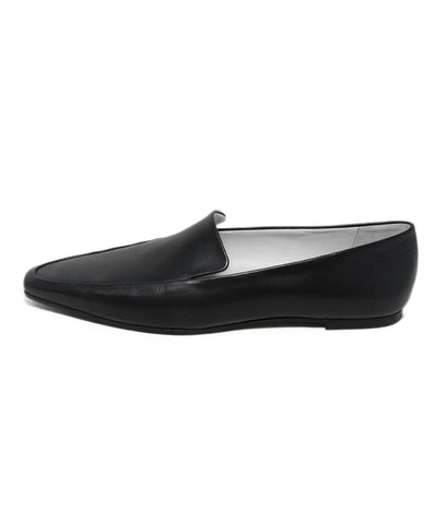 The Row black leather flats 1