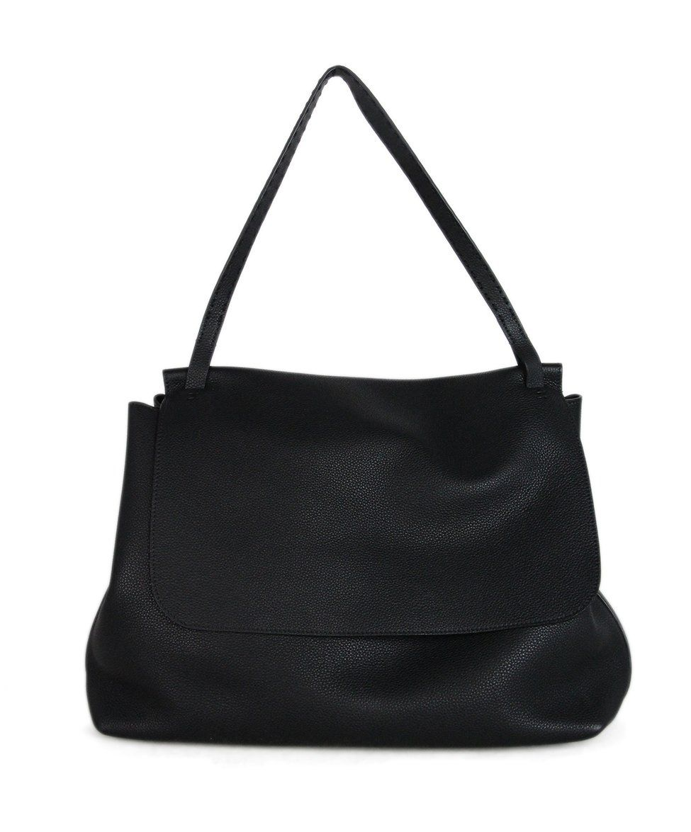 The Row black leather shoulder bag 1