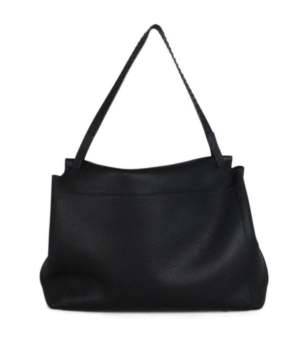 The Row black leather shoulder bag 3