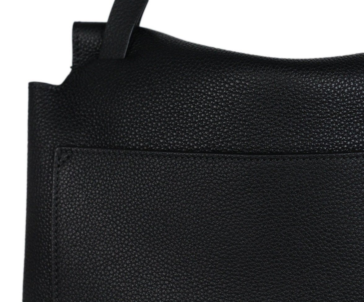 The Row black leather shoulder bag 7
