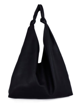 The Row Black Leather Hobo Shoulder Handbag 1
