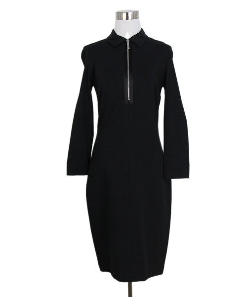 The Row Black Modal Elastane Long Sleeve Dress Sz. 4