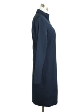 The Row Navy Cotton Longsleeve Dress 2