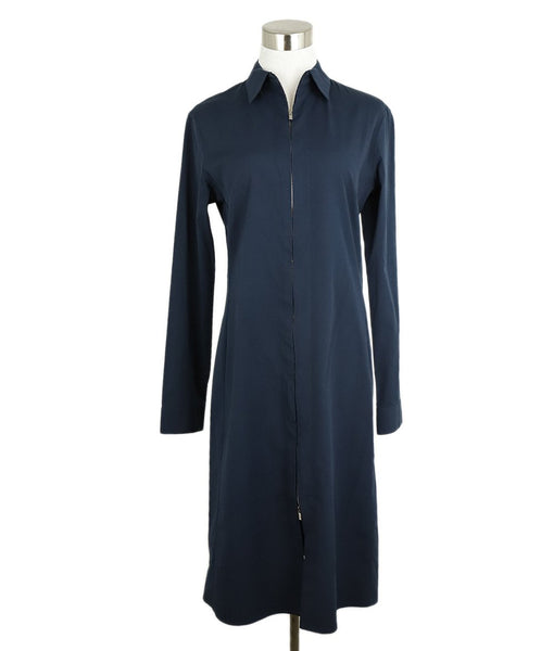 The Row Navy Cotton Longsleeve Dress 1