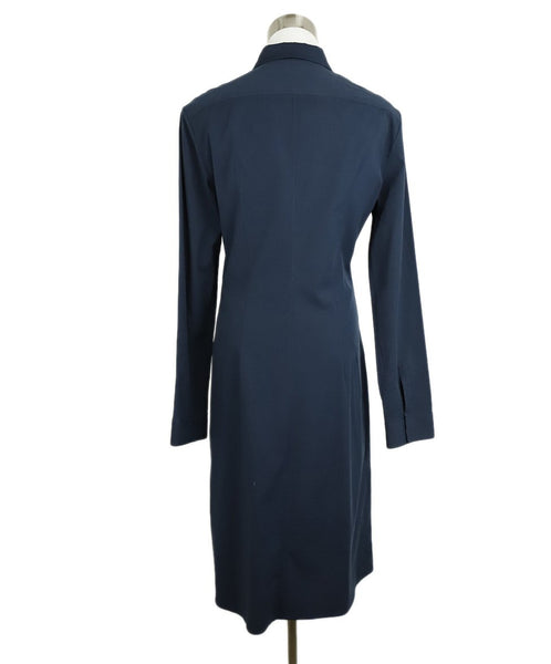 The Row Navy Cotton Longsleeve Dress 3