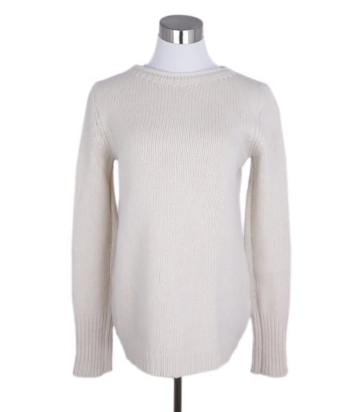 The Row Cream Wool Cashmere Sweater 1