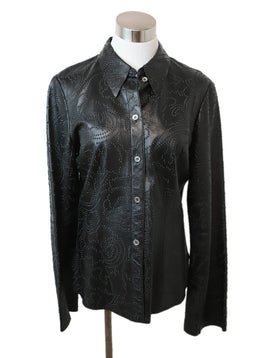 The Wrights Black Leather Top 1