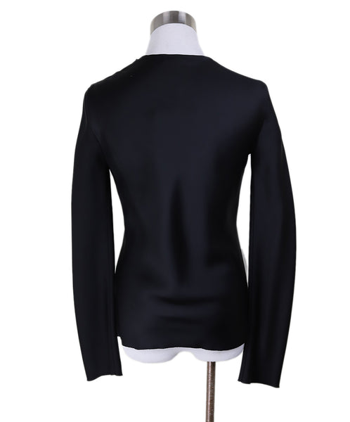 The Row Black Silk Longsleeve Blouse 2