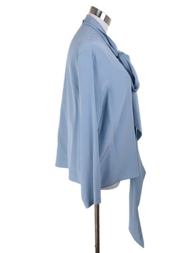 The Row Blue Silk Blouse 1
