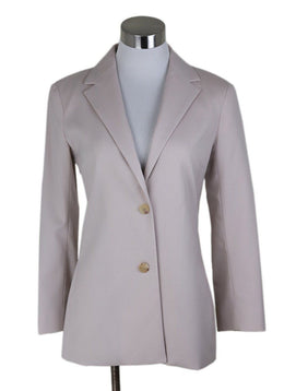 The Row  Neutral Beige Wool Jacket