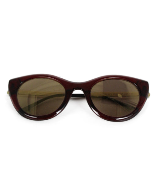Thierry Lasry Burgundy Plastic Sunglasses 1